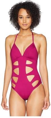 Kenneth Cole Hall of Fame Push-Up Mio with Cut Out Detail One-Piece Swimsuit Women's Swimsuits One Piece