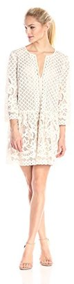 "BCBGMax Azria Women's ""Laurice"" Lace Slit Neck Tunic Dress $298 thestylecure.com"