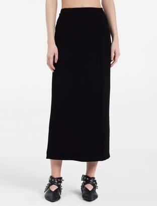 Calvin Klein heavy stretch crepe long skirt