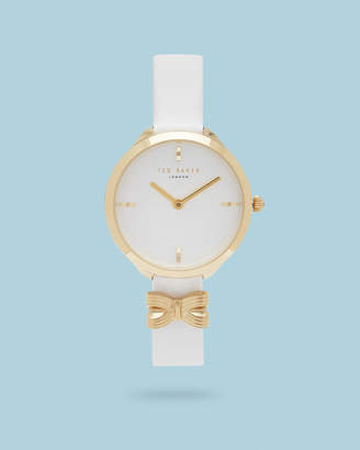 Ted Baker BOWWII Bow detail leather watch