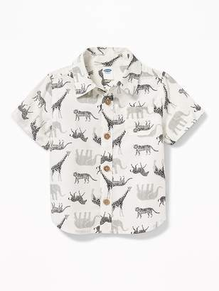 Old Navy Safari Animal-Print Shirt for Baby