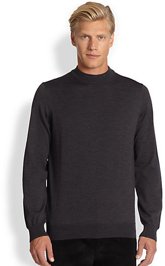 Saks Fifth Avenue Collection Wool Mock Turtleneck Sweater