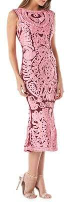 JS Collections Soutache Midi Dress