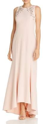 Eliza J Embellished High/Low Mermaid Gown