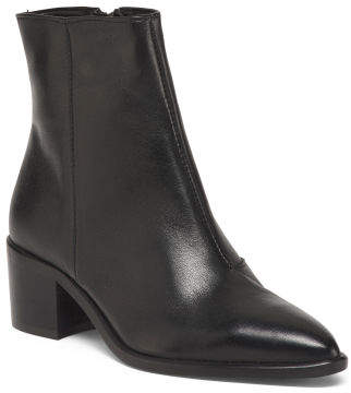 Made In Europe Western Leather Booties