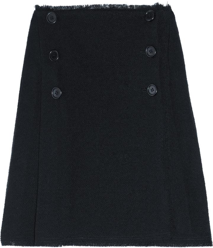 Meadham Kirchhoff Lithium pleated wool-tweed skirt