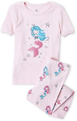 Petit Lem Girls 7-16) Two-Piece Mermaid Sequin Tee & Pajama Pants Set