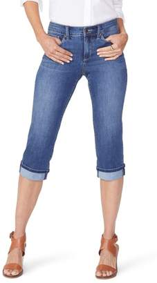 NYDJ Marilyn High Waist Cuffed Stretch Crop Jeans