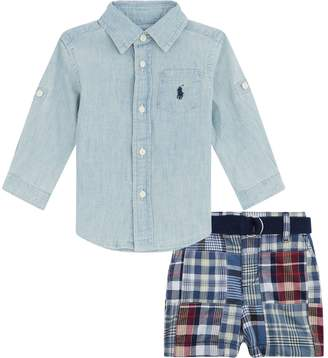 Polo Ralph Lauren Shirt and Checked Shorts Set