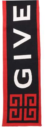 Givenchy Red/black Wool Scarf