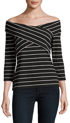 Vince Camuto Crossed Panel Off-the-Shoulder Top $69 thestylecure.com