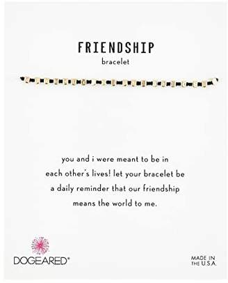 Dogeared Friendship Bracelet, Flat Bead Black Silk Bracelet