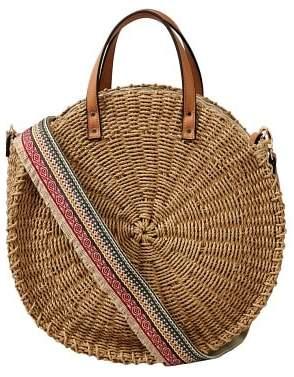 Violeta BY MANGO Round raffia bag