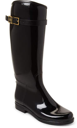 dav Black Bristol Buckle Tall Rain Boots