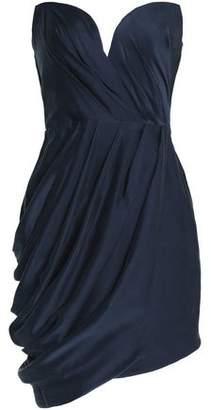 Zimmermann Strapless Draped Washed-Silk Mini Dress