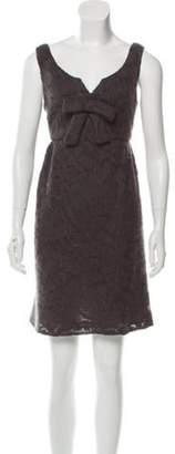 Anna Sui Open Knit Mini Dress Grey Open Knit Mini Dress
