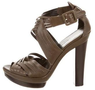 Hermes Leather Platform Sandals
