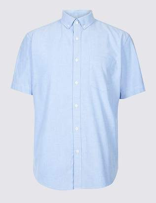 Marks and Spencer Pure Cotton Oxford Shirt with Pocket