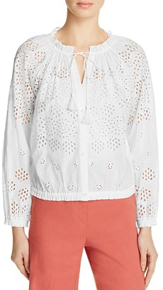 Theory Maryana Vintage Eyelet Top $345 thestylecure.com