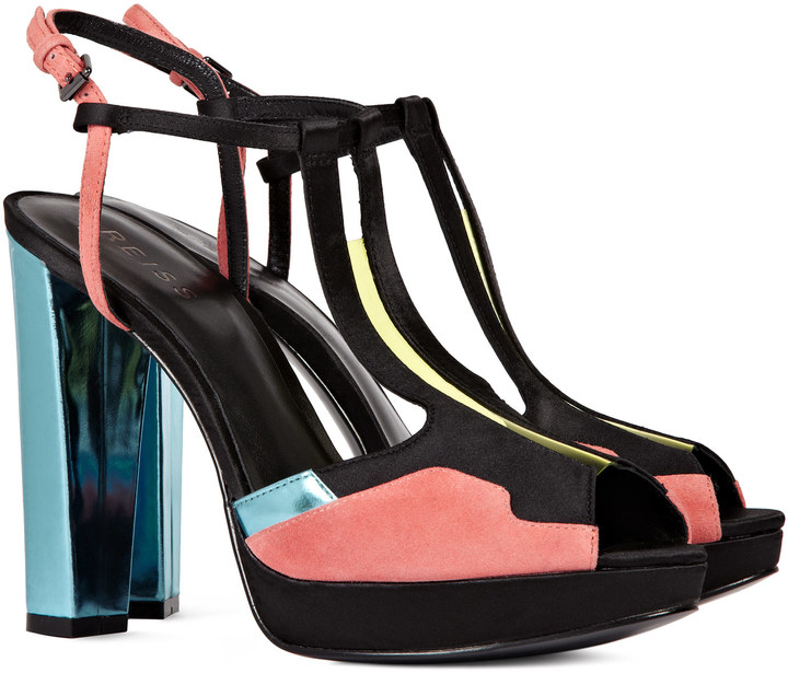 Reiss Andree PATCHWORK T BAR PLATFORMS