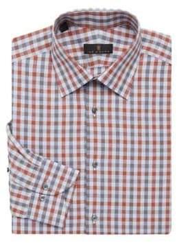 Ike Behar Regular-Fit Check Dress Shirt