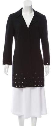 Andrew Gn Wool Grommet-Accented Coat