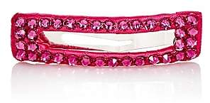 River & Rosy Rhinestone-Embellished Rectangular Hair Clip-Pink