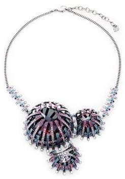 Swarovski Multi-Color Crystal Bib Necklace