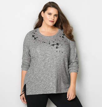 Avenue Embellished French Terry Pullover