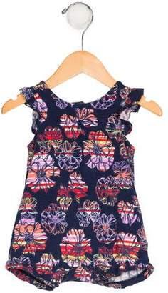 Splendid Girls' Floral Print Sleeveless Bodysuit