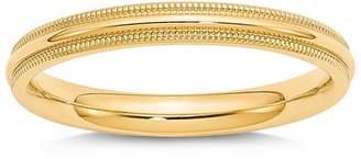 Bloomingdale's Men's 3mm Milgrain Comfort Fit Wedding Band 14K Yellow Gold - 100% Exclusive