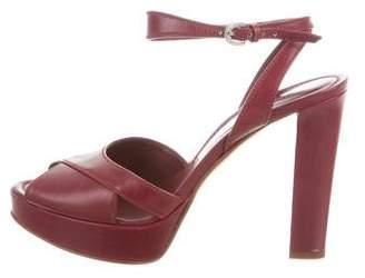 Sergio Rossi Peep-Toe Platform Sandals