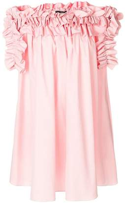 Alexander McQueen off-shoulder ruffle dress