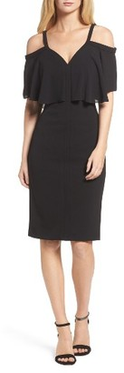 Women's Maggy London Catalina Crepe Popover Dress $138 thestylecure.com