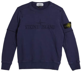 Stone Island Logo Embroidered Sweatshirt, Size 8-10
