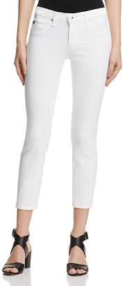 AG Stilt Crop Jeans in White $178 thestylecure.com