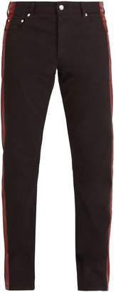 Alexander McQueen Side-stripe straight-leg jeans