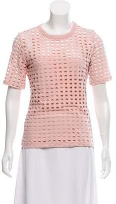 Alexander Wang Lasercut Short Sleeve T-Shirt