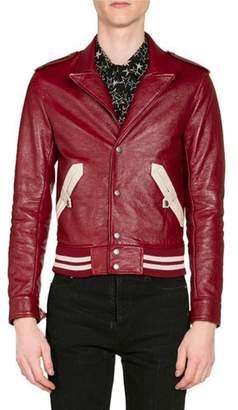 Saint Laurent Men's Teddy Western Leather Jacket