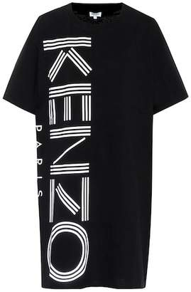 Kenzo Logo printed cotton T-shirt dress