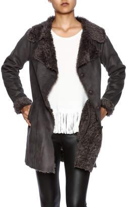 Monoreno Mono Reno Faux Suede Coat