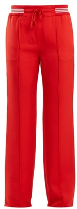 Valentino Slim Leg Faille Track Pants - Womens - Red
