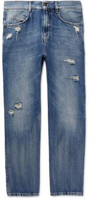 McQ Skinny-Fit Distressed Denim Jeans
