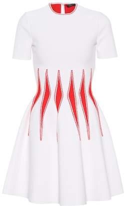 Alexander McQueen Jacquard-knit minidress