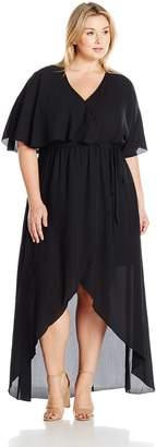 Melissa McCarthy Women's Plus Size Maxi Faux Wrap Dress