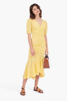 STAUD Panier Dress | Yellow Gingham