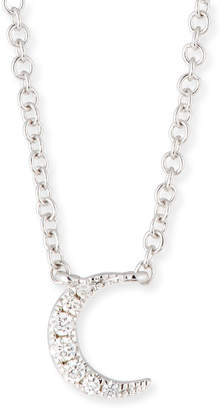 Ef Collection 14k Diamond Moon Pendant Necklace