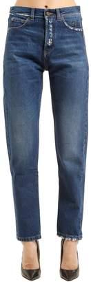 Saint Laurent Skinny Boyfriend Ripped Denim Jeans