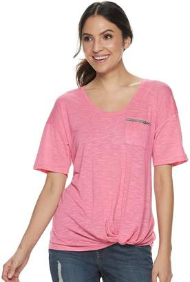 Juicy Couture Women's Embellished-Pocket Tee