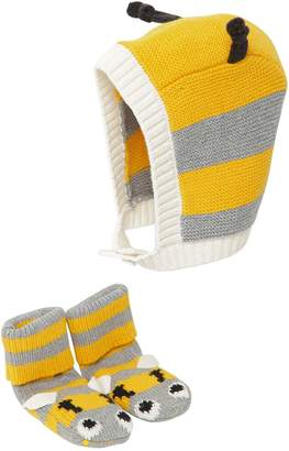 Stella McCartney Bee Intarsia Cotton Knit Hat & Socks